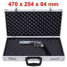 Aluminium Pistol Gun Case Carry Storage Lockable Flight Case Tool Secure Box