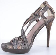 New Burberry Prorsum $950 Degrade Python Snakeskin Nova Check Shoes 39 9