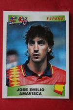 Panini EURO 96 N. 129 AMAVISCA ESPANA New With BLACK back TOPMINT!!
