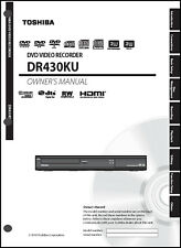Toshiba DR430 DVD Video Recorder Operation User Guide
