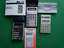 """3 machine à calculer """"anciennes"""" pour collection - SHARP - TEXAS - ADLER"""