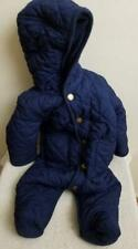 Polo Ralph Lauren Down Snap Puffer Snowsuit Blue Infant Boy 6 Months