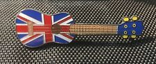 UKELELE GUITAR UNION JACK ENAMEL PIN BADGE GREAT GIFT FOR MUSIC LOVERS (PB18) -