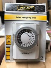 Defiant 15 Amp 24-Hour Indoor Plug-In Heavy-Duty Mechanical Timer. / 156