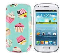 Funda protectora para Samsung Galaxy s3 mini i8190 funda, funda, estuche, Cupcake Panecillo