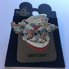 WDW Monorail BRITTANY Name Pin FAB 4 Mickey Minnie Goofy Donald Disney Pin 15004