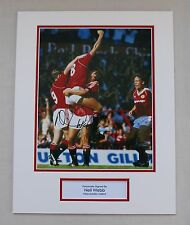 Neil Webb In Manchester United Shirt HAND SIGNED Autograph Photo Mount COA