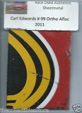 CARL EDWARDS 2011 #99 ORTHO AFLAC FORD AUTHENTIC NASCAR RACE USED SHEETMETAL #6