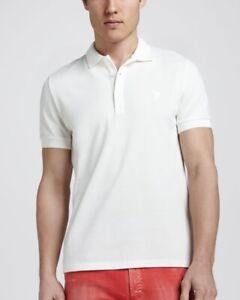 VERSACE Collection Polo S Men's White Short Sleeves Shirt Medusa Head NWT $395