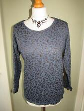 Women's Thin Knit Cotton Blend Scoop Neck 3/4 Sleeve Jumpers & Cardigans