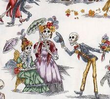 Alexander Henry~Paseo De Los Muertos~Day of the Dead~Folklorico~Fabric~per1/2 yd