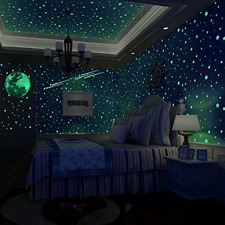 500 PCS Glow in The Dark Stars Wall Stickers,  Dark Stars and Full Moon for or