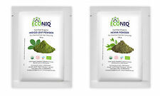 ECONIQ'S 100GMS EACH OF ORGANIC INDIGO AND HENNA POWDER FOR BLACK HAIR COLOR
