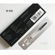 Kaco EDGE Medium Nib Black Brushed Metal Fountain Pen (Gift a K1 Converter)