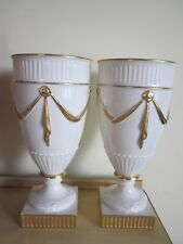 Old Lenox Porcelain Vases Pair  12""