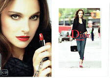 Publicité Advertising 127  2013  Dior (2p) maquillage Rouge lèvres Natalie Portm
