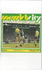 Away Teams S-Z Division 1 Wolverhampton Wanderers Football Programmes