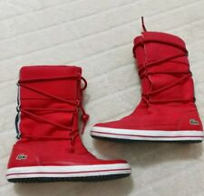 LACOSTE Sport TORRINO LEATHER/Canvas HIGH TOP BOOTS womens 5.5 US/36 EUR/3.5 UK