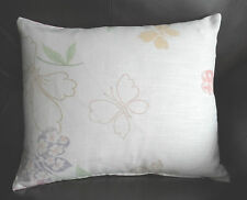 ~ LAURA  ASHLEY HOME FABRIC ~ MALLOW / PINK GINGHAM 17 x 14 inch CUSHION