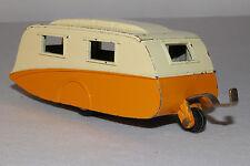 1950's Dinky # 190 Caravan Camper Trailer, Yellow & White, Original