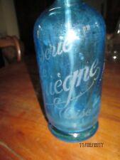 """bouteille-siphon  à eau de Seltz """"brasserie de Compiègne-Oise """"- Cirier-pavard"""