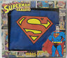 DC COMICS : SUPERMAN LOGO MENS WALLET WITH ZIP SECTION BY HALF MOON BAY. (TK)