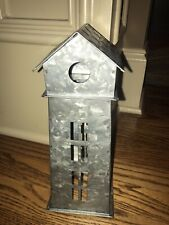Pottery Barn Galvanized Village House  MILL HOUSE TOWER New with Tags