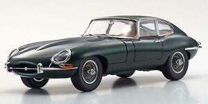 Jaguar E-Type Coupe 1961 Serie 1 (RHD) 3.8 british racing green 1:18  Kyosho