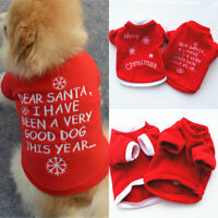 Pet Dog Cat Puppy Costumes Embroidery Sweat Shirt Dog Red Clothes Vest T Shirts