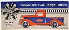 Cooper Tire 1936 Dodge Pickup With Locking Coin Bank 1:25 Scale Free Shipping