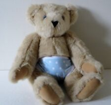 AUTHENTIC VERMONT TEDDY BEAR 16 Inch Light Brown Jointed Plush Stuffed Bear
