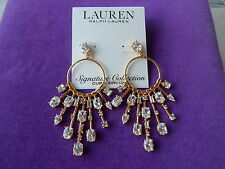 LAUREN Ralph Lauren NWT Glam Slam Glittering Stone Chandelier Earrings