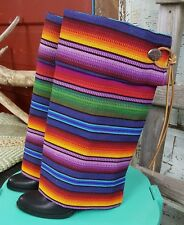 Cowboy Boots Multi Color Striped Boots For Women Ebay