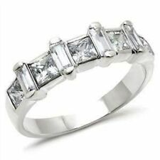 Princess Sterling Silver Engagement Solitaire with Accents Fine Gemstone Rings