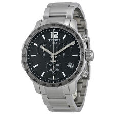 Tissot Quickster Chronograph Anthracite Dial Stainless Steel Mens Watch