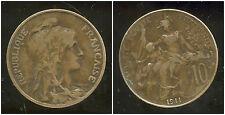 FRANCE  FRANCIA  10 centimes DUPUIS  1911  ( 1 )  ( bis )