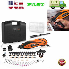 Power Rotary Tool Kit Variable Speed w Flex Shaft 80 Accessories 3 Attachments