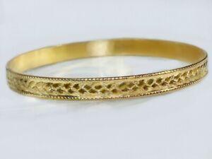 Vintage Gold Bangles Authentic Gold Filled 1/20 -14K Sturdy Bangle Bracelets