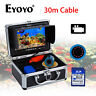 """30M 7"""" Fish Finder Unterwasserfischen Videokamera 8GB DVR w / Lichtsteuerung"""