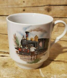 Bavaria Schumann Arzberg Germany Coffee Mug Cup Train Steam Engine Holland 1890