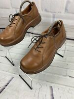 Dansko Women's Tan Oxford Lace Up Nursing Work Shoes Size Euro 41 US 10.5 -11