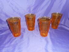 4 NEW LE CADEAUX POLYCARBONATE YELLOW BISTRO TUMBLER GLASS BREAK RESISTANT 16 oz