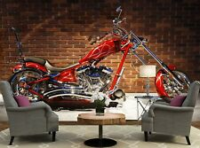Red Motorcycle  Photo Wallpaper Wall Mural DECOR Paper Poster Free Paste