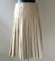 MARC JACOBS Lederrock Rock Beige Gr. US 0 D 36 100% Leder Damen Leather Skirt
