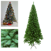 Slim Christmas Tree Pencil Green 7ft 2.1M Nice Slim Thick with Metal Stand New