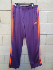 Pantalon ADIDAS rétro vintage Trefoil violet orange sport détente pant XL