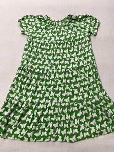 Green Cotton Garnet Hill 14 White Butterfly Tiered Twirl Dress Girls