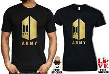 BTS Army T-shirt Kpop Bangtan Boys Singer Group Music Band MENS WOMENS Tee