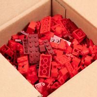 Lego 520g - Reds Regular & Dark Mixed Bricks - All Official Genuine Lego