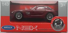 Welly / Nex Models - Mercedes-Benz SLS AMG weinrot 1:43 Neu/OVP Modellauto